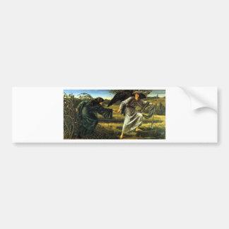 Amor que lleva al peregrino de Edward Burne-Jones Pegatina Para Auto