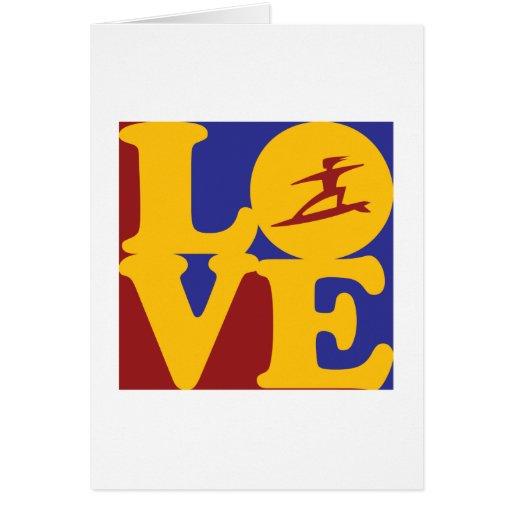 Amor que practica surf felicitaciones