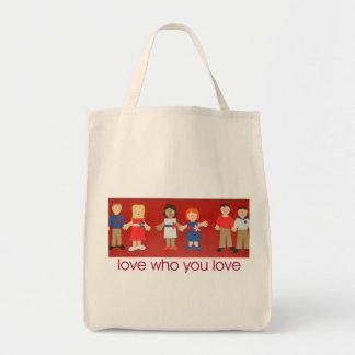 amor que usted ama el tote bolsa tela para la compra