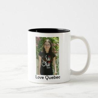 Amor Quebec Taza De Dos Tonos