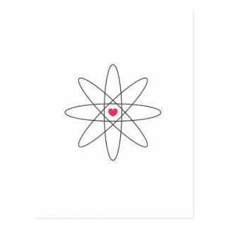 amor químico tarjeta postal