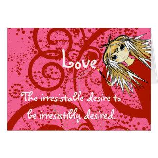 Amor-Quote~ Robert Frost del animado Tarjeta De Felicitación