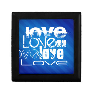 Amor; Rayas azules reales Caja De Joyas