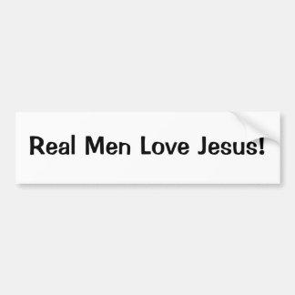 Amor real Jesús de los hombres Etiqueta De Parachoque