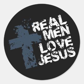 Amor real Jesús de los hombres Pegatina Redonda
