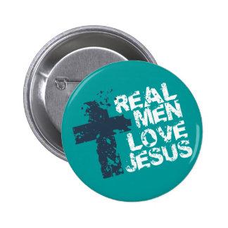 Amor real Jesús de los hombres Pin Redondo De 2 Pulgadas