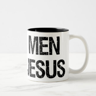 Amor real Jesús de los hombres Taza De Dos Tonos