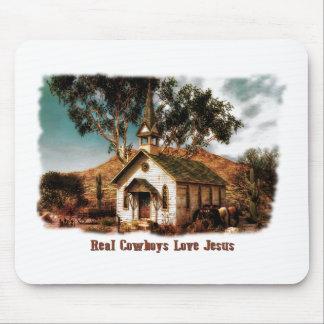 Amor real Jesús de los vaqueros Mouse Pads