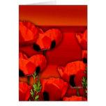 Amor real rojo tarjeta