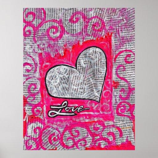 "Amor reciclado, 22"" x 28"" poster"