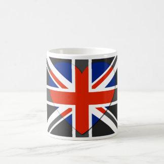 Amor Reino Unido - tazas del vintage de la bandera