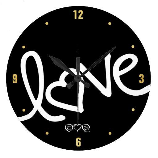 amor reloj redondo grande
