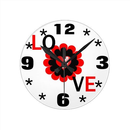 Amor Reloj Redondo Mediano