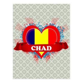 Amor República eo Tchad del vintage I Postal