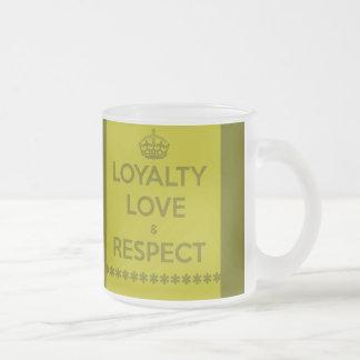 AMOR RESPE de la LEALTAD del LEMA de la VIDA del Taza De Café