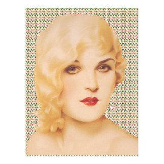 Amor retro de los años 30 tarjeta postal