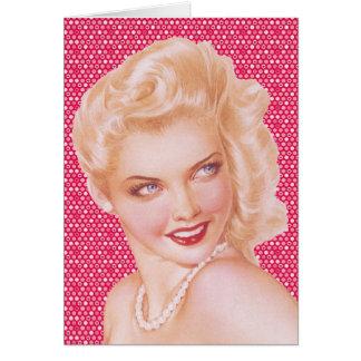 Amor retro de los años 40 tarjeta