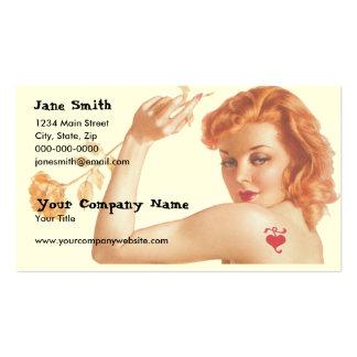 Amor retro de los años 40 tarjetas de visita