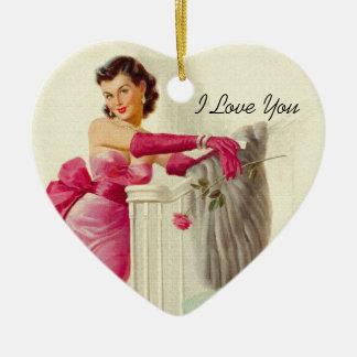 Amor retro de los años 50 ornamente de reyes