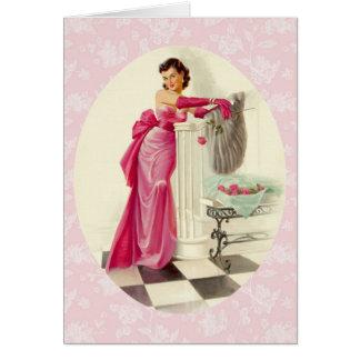 Amor retro de los años 50 tarjeta