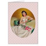 Amor retro de los años 50 tarjeta de felicitación