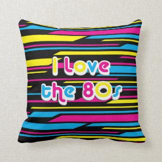 Amor retro del cultura Pop I los años 80 Cojín