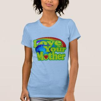 Amor retro su madre tierra camiseta