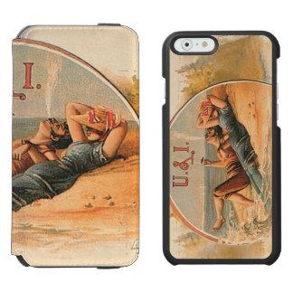 Amor retro U y I del vintage Funda Billetera Para iPhone 6 Watson