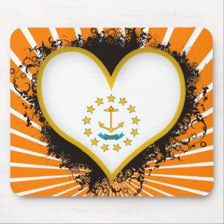 Amor Rhode Island del vintage I Alfombrillas De Raton