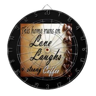 amor, risas, café fuerte tablero dardos