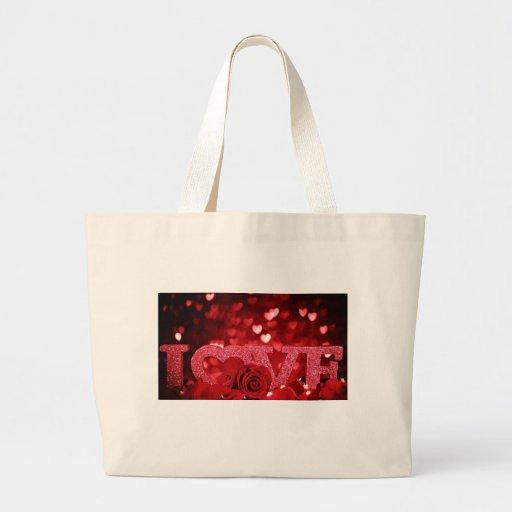 amor rojo bolsa de mano