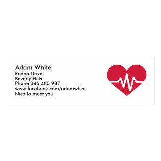 Amor rojo de la frecuencia de corazón tarjetas de visita