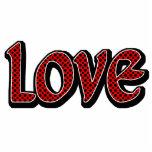 Amor rojo de Polkadot Esculturas Fotograficas
