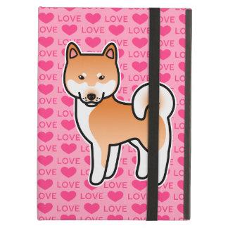 Amor rojo de Shiba Inu del dibujo animado