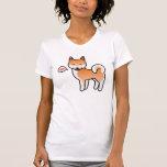 Amor rojo de Shiba Inu del dibujo animado Camiseta