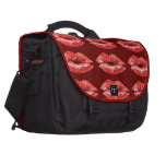 Amor rojo del beso de los labios bolsa para ordenador