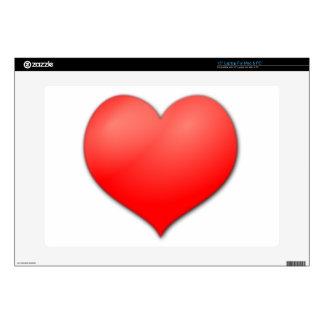 Amor rojo del corazón portátil skin