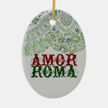 Amor Roma con el cordón verde Ornamento Para Reyes Magos
