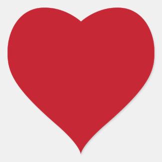 Amor romántico de color rojo oscuro en forma de co pegatina corazon