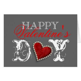"""Amor romántico del corazón del """"el día de San Vale Tarjeta"""