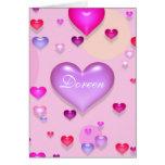 Amor romántico del el día de San Valentín Tarjetón