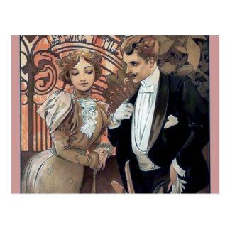Amor romántico del hombre de la mujer del ligón de tarjeta postal