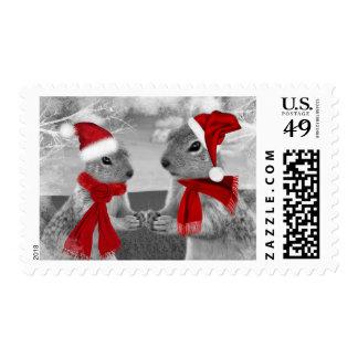 Amor romántico del invierno del navidad de las sellos postales