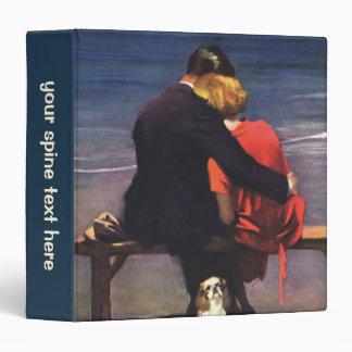 "Amor romántico del vintage, romance en la playa carpeta 1 1/2"""