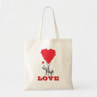 Amor romántico divertido de las tarjetas del día d bolsa tela barata