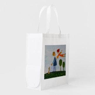 Amor romántico que pinta el bolso reutilizable bolsa reutilizable