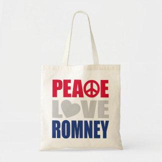 Amor Romney de la paz Bolsas De Mano