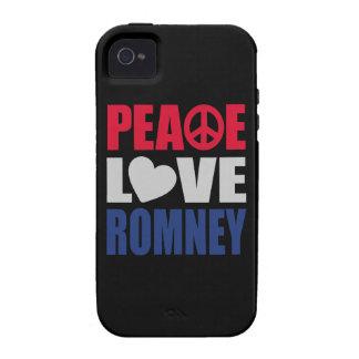Amor Romney de la paz iPhone 4 Carcasa