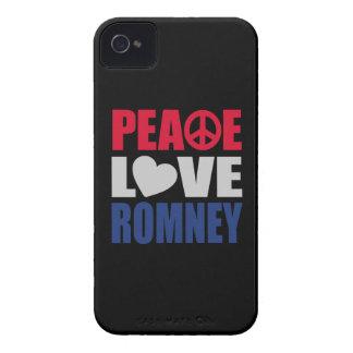 Amor Romney de la paz iPhone 4 Case-Mate Cobertura