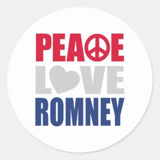 Amor Romney de la paz Pegatinas
